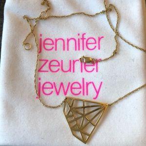 Jewelry - Jennifer Zeuner diamond gold plated necklace